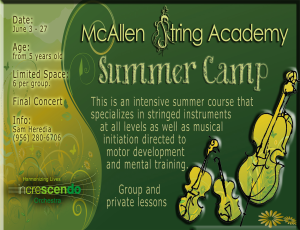 Poscards summer camp