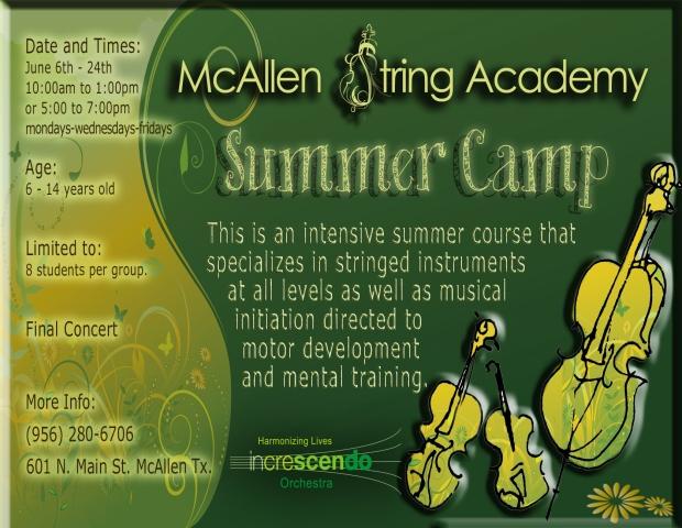 Campamento de Verano MCAllen 2014 post card